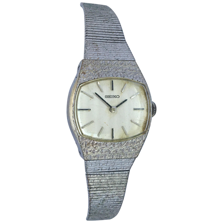 Vintage 1980s Seiko Mechanical Ladies Watch
