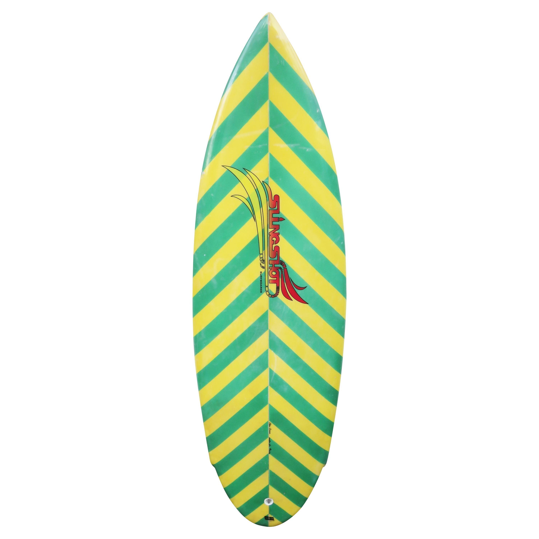 Vintage 1980s Slingshot Twin Fin Surfboard
