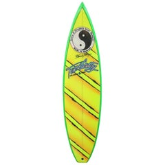 Vintage 1980s Town & Country 'T&C' Surfboard by Dennis Pang