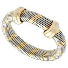 Vintage 1980s Yellow Gold and Steel Cocktail Ring by Cartier