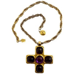Vintage 1982 CHANEL Gripoix Byzantine Cross Necklace