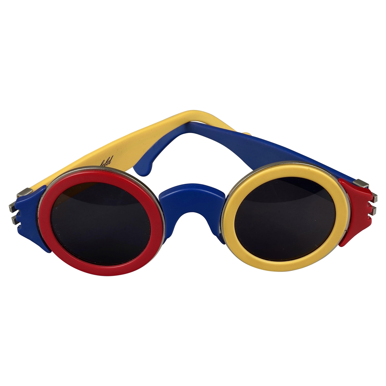 Vintage 1985 KARL LAGERFELD Color Block Limited Edition Sunglasses