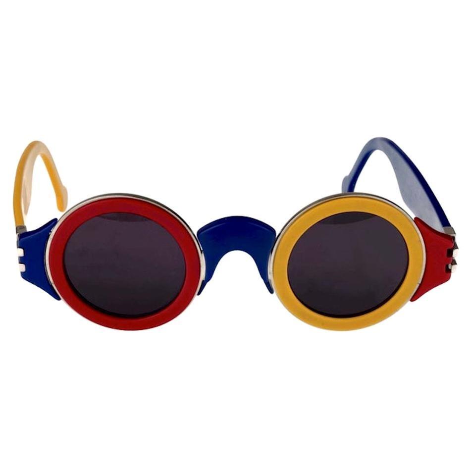 Vintage 1985 KARL LAGERFELD Limited Edition Colour Block Sunglasses