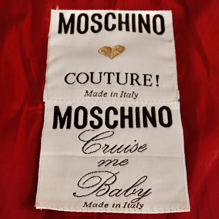 Vintage 1989 MOSCHINO COUTURE