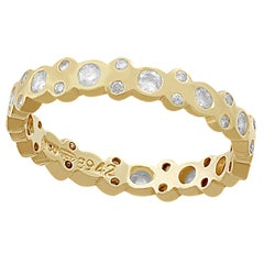 Vintage 1990s Diamond and Yellow Gold Full Eternity Ring