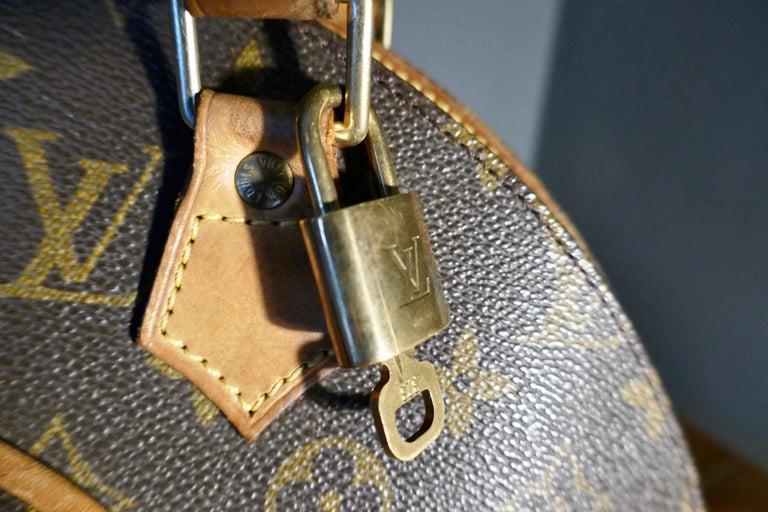 Brown Vintage 1990s Louis Vuitton Ellispe MM Hand Bag For Sale
