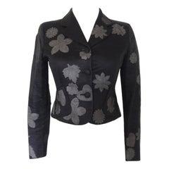 Vintage 1990s Moschino Floral Crop Blazer Jacket