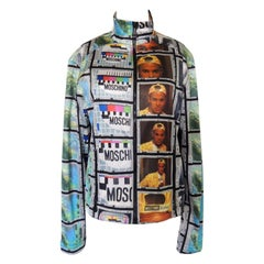Vintage 1990s Moschino Moving Images Track Jacket
