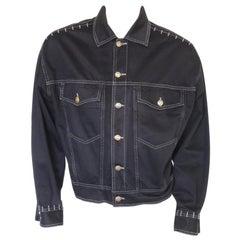 Vintage 1990s Versace Jeans Couture Denim Jean Jacket