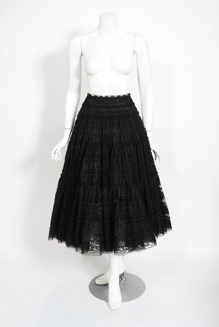 Vintage 1990's Vivienne Westwood Lace Corset Bustier & Sheer Pleated Skirt Set For Sale 5