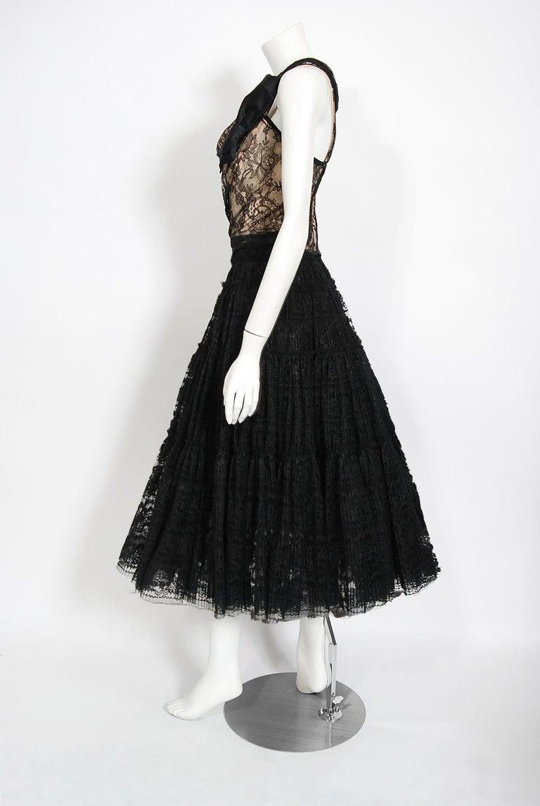 Women's Vintage 1990's Vivienne Westwood Lace Corset Bustier & Sheer Pleated Skirt Set For Sale
