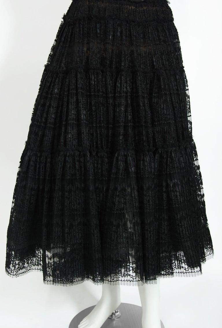 Vintage 1990's Vivienne Westwood Lace Corset Bustier & Sheer Pleated Skirt Set For Sale 2