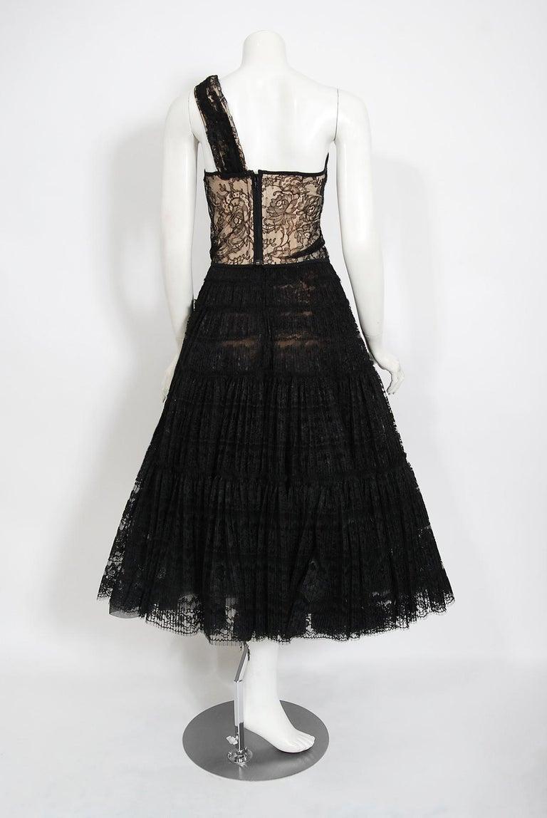 Vintage 1990's Vivienne Westwood Lace Corset Bustier & Sheer Pleated Skirt Set For Sale 3