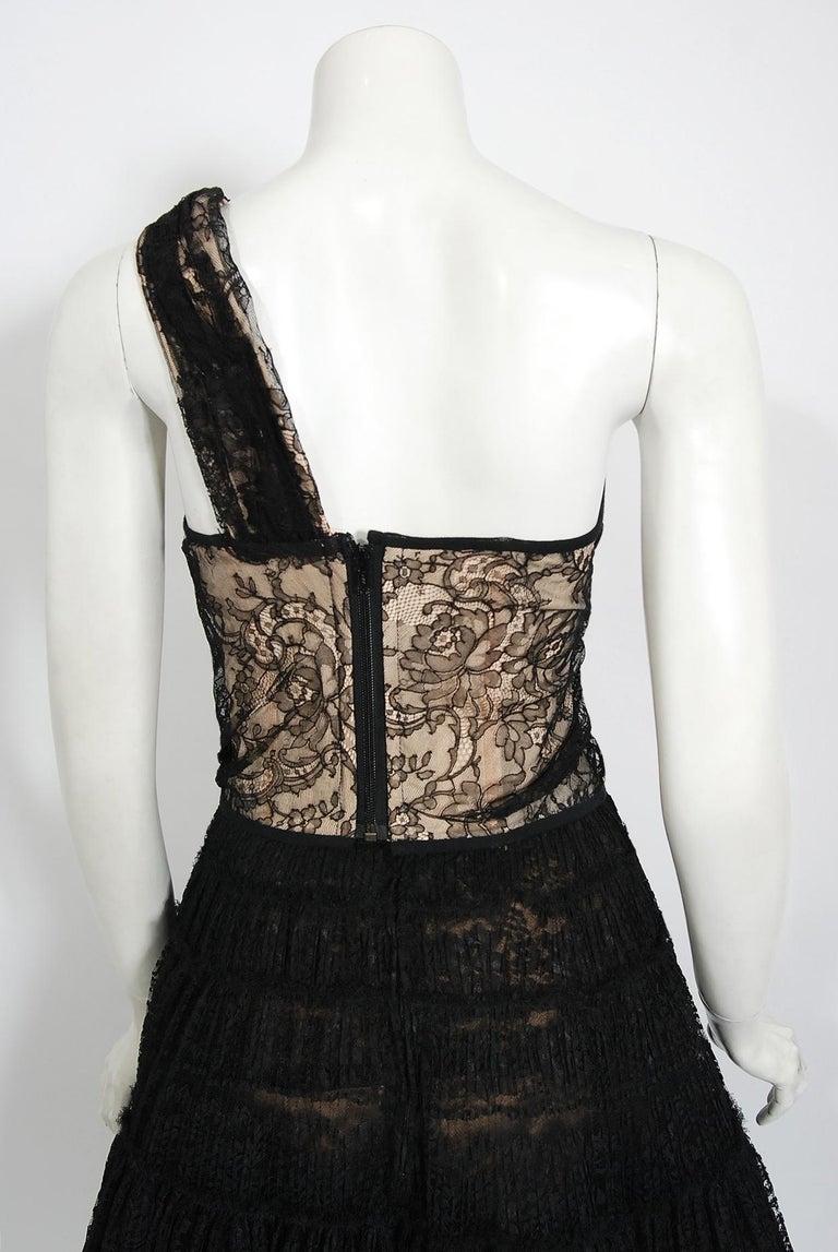 Vintage 1990's Vivienne Westwood Lace Corset Bustier & Sheer Pleated Skirt Set For Sale 4