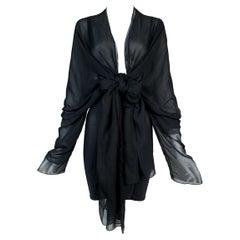 Vintage 1992 Dolce & Gabbana Sheer Silk Corset Bandage Skirt Mini Dress