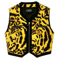 Vintage 1992 GIANNI VERSACE COUTURE Iconic Leopard Print Vest