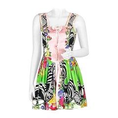 """Vintage 1992 GIANNI VERSACE VERSUS Floral """"Romantic Rock"""" Dress"""