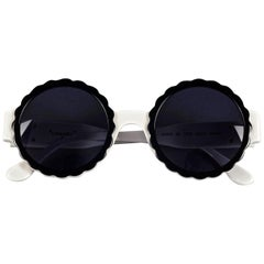 Vintage 1993 Iconic CHANEL PARIS Camellia Round Sunglasses