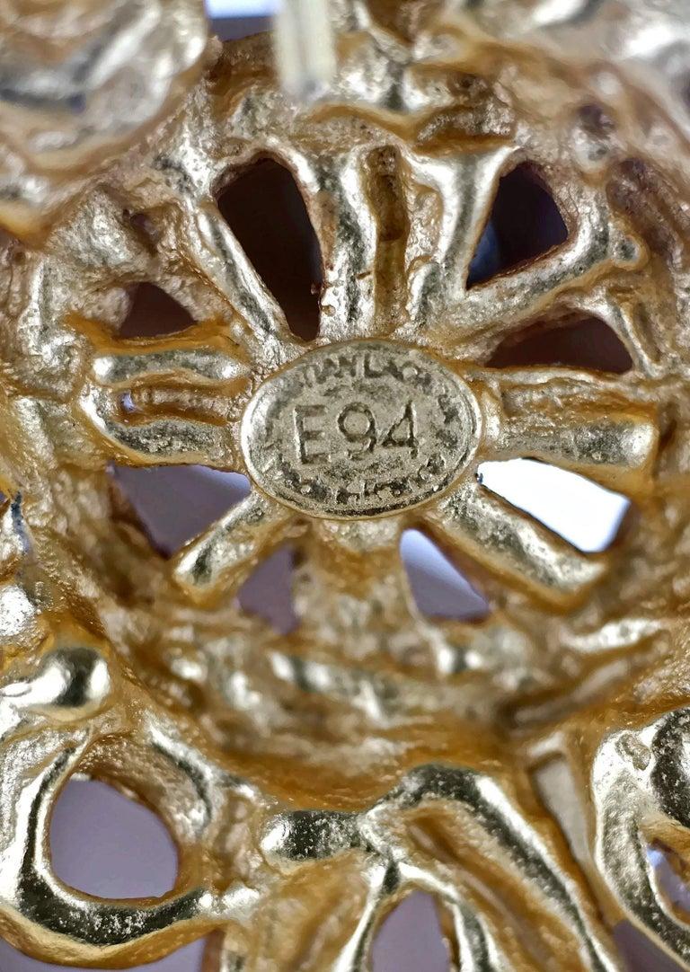 Vintage 1994 CHRISTIAN LACROIX Torsade Cross Brooch Pendant Necklace For Sale 7