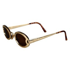 "Vintage 1995 CHRISTIAN DIOR ""Lunettes Show"" Limited Edition Gold Sunglasses"