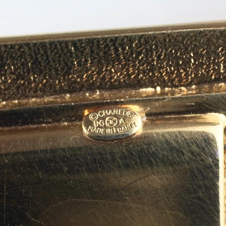Vintage 1996 CHANEL Logo Buckle Multi Chain Belt For Sale 5