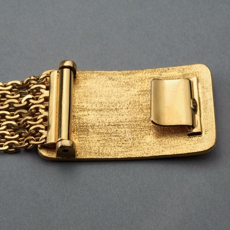 Vintage 1996 CHANEL Logo Buckle Multi Chain Belt For Sale 4