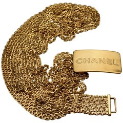 Vintage 1996 CHANEL Logo Buckle Multi Chain Belt