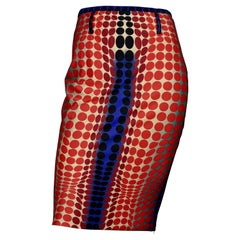 Vintage 1996 JEAN PAUL GAULTIER Cyberbaba Optic Illusion Skirt by Victor Vasarel