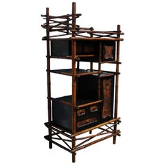 Vintage 19th Century Aesthetic Bamboo Cabinet