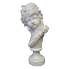Vintage 19th Century Marble Bust