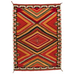 "Vintage 19th Century Navajo Germantown ""Eye Dazzler"" Blanket"