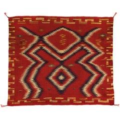 Vintage 19th Century Navajo Germantown Weaving, Saddle Blanket, circa 1890