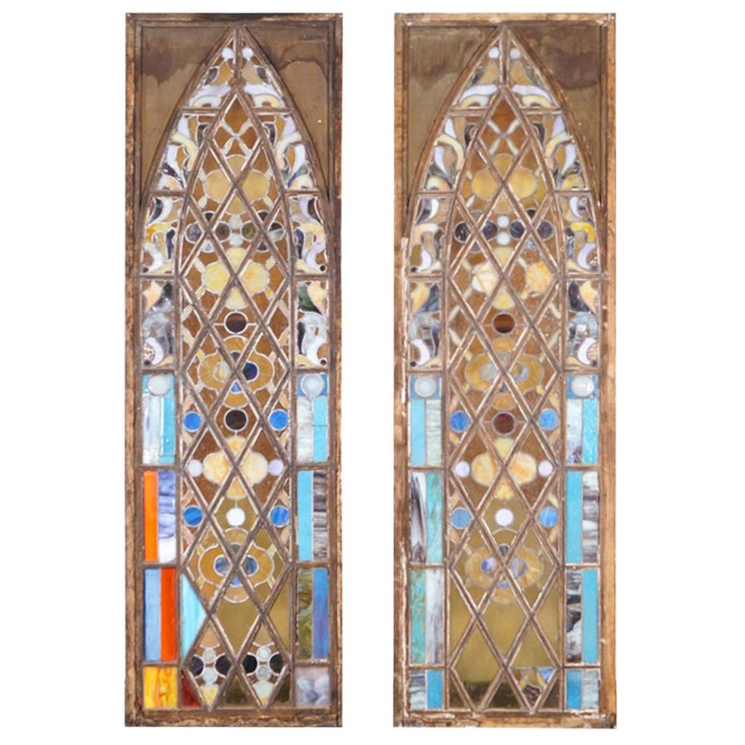Vintage 19th Century Stained Glass Windows