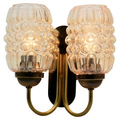 Vintage 2 Arms Wall Mount Lamp in the Style Helena Tynell, 1960s