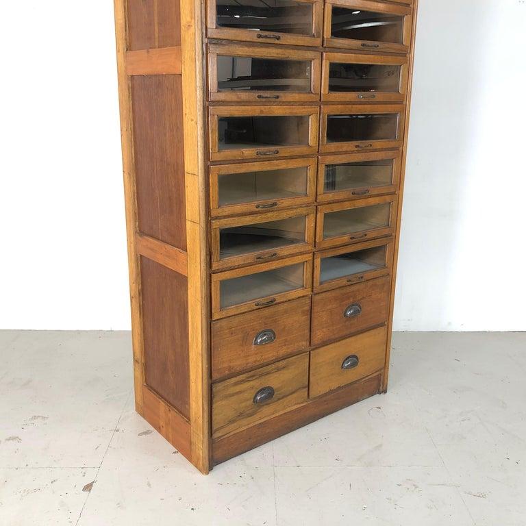 Vintage 20-Drawer Haberdashery Cabinet Shop Display 4