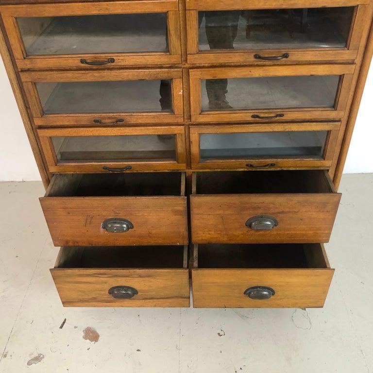 English Vintage 20-Drawer Haberdashery Cabinet Shop Display