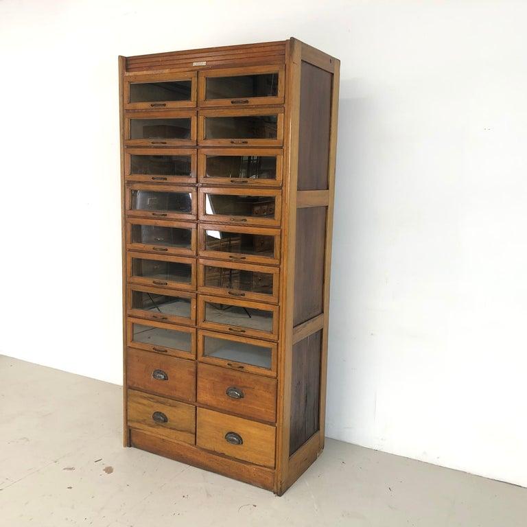 20th Century Vintage 20-Drawer Haberdashery Cabinet Shop Display