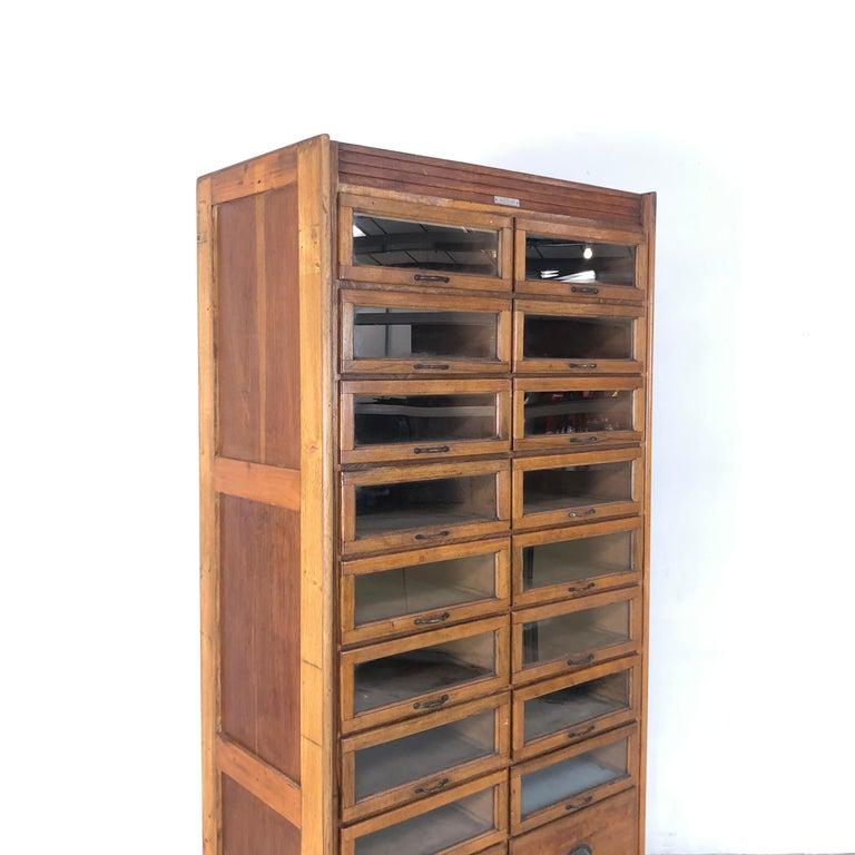 Vintage 20-Drawer Haberdashery Cabinet Shop Display 3