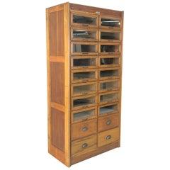 Vintage 20-Drawer Haberdashery Cabinet Shop Display