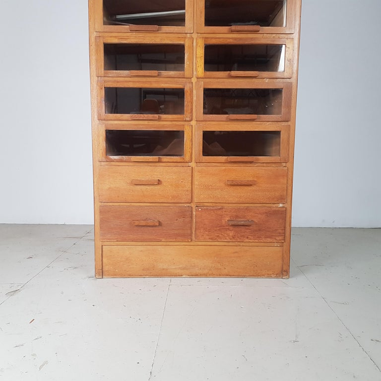 20th Century Vintage 20-Drawer Haberdashery Cabinet Shop Display Made by Dudley & Co. For Sale