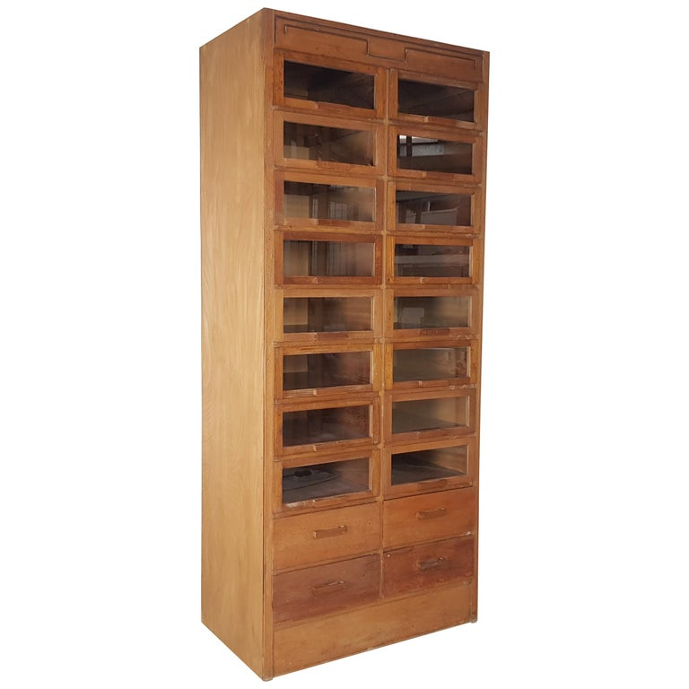Vintage 20-Drawer Haberdashery Cabinet Shop Display Made by Dudley & Co. For Sale