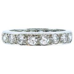 Vintage 2.00 Carat Diamond Full Eternity Ring, Platinum, 1950s