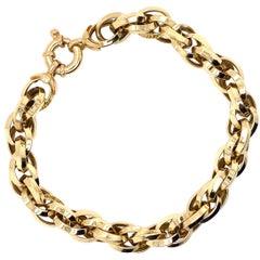 Vintage 2000's 18k Yellow Gold Triple Cable Link Bracelet
