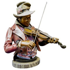 Vintage 20th Century Cold Painted Bronze New Orleans Jazz Musician