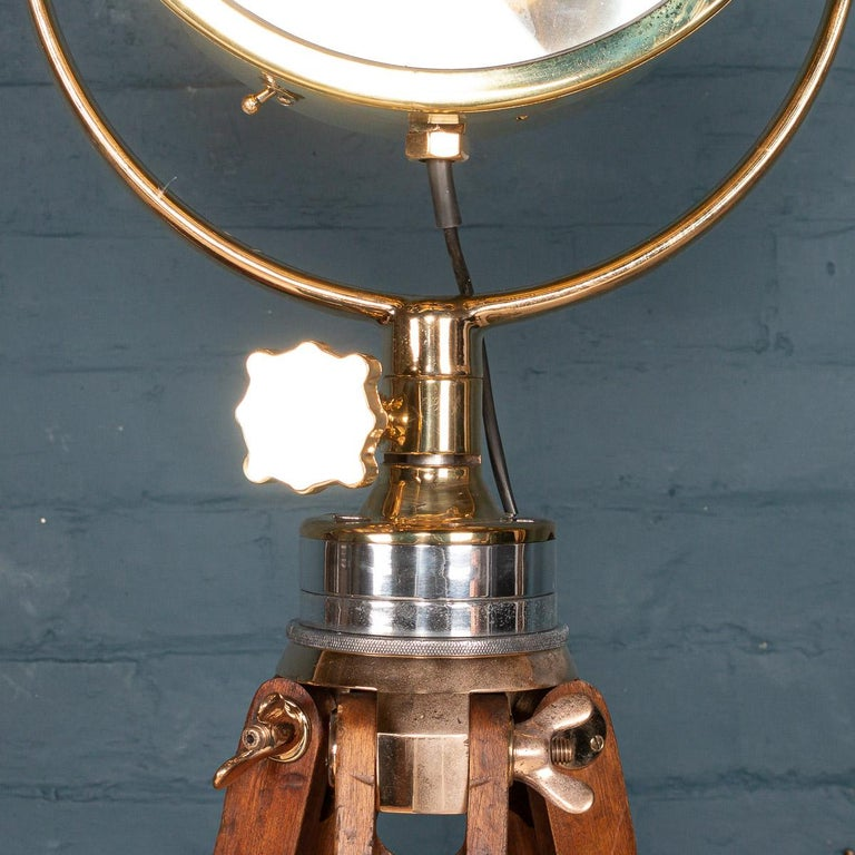 Vintage 20th Century English Naval Searchlight For Sale 3