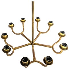 Vintage Brass Chandelier, Italy, 20th Century