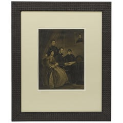 "Vintage 20th Century Reprint of 1865 ""Lincoln Family"" Engraving"