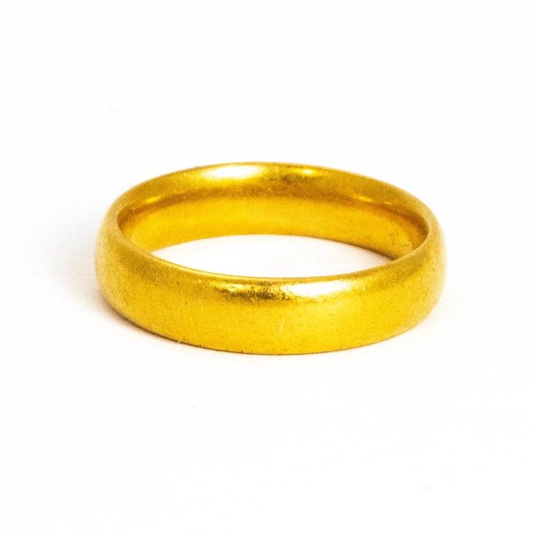 Vintage 22 Carat Gold Wedding Band For Sale 1