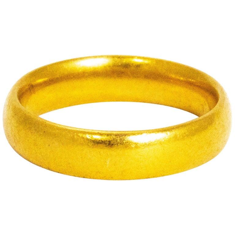 Vintage 22 Carat Gold Wedding Band For Sale