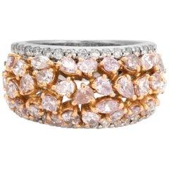 Vintage 2.25 Carat Diamond Ring 18 Karat White Gold Estate Fine Jewelry Dome